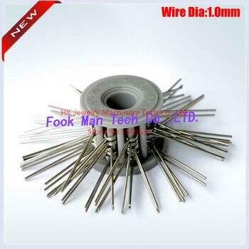 Free Shipping Jewelry Making Tools Mini Brush Matt Steel Wire Brush Green Color Grit Medium 0.30mm Diameter 10pcs/lot