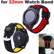 Silicone Bracelet 22mm Watch Strap for Huami Amazfit Pace Stratos 2 Pulsera Correa for Samsung Gear S3 for Huawei Watch GT Band