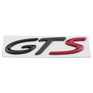 Image 4 - Car Badge Front Side Truck Lid Emblem GTS Logo For Porsche 718 Cayenne Turbo Macan Panamera Exterior Accessories Auto Styling
