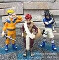 3 pçs/set 14 cm Naruto Uzumaki Naruto Uchiha Sasuke Gaara figuras de ação Anime PVC brinquedos figuras coleção brinquedos