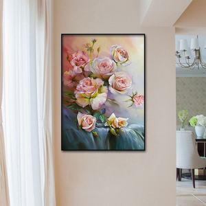 Image 2 - Classic rose pittura a olio di San Valentino Giorno decorativa poster e stampato Nordic pittura murale di arte della parete casa pittura decorativa