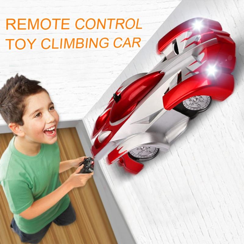 1PCs RC auto Fernbedienung Klettern RC Auto mit Led-leuchten 360 Grad Rotierenden Stunt Spielzeug Maschine Wand RC AUTO Junge Weihnachten geschenk