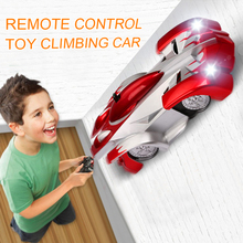 1PCs RC auto Fernbedienung Klettern RC Auto mit Led leuchten 360 Grad Rotierenden Stunt Spielzeug Maschine Wand RC AUTO Junge Weihnachten geschenk