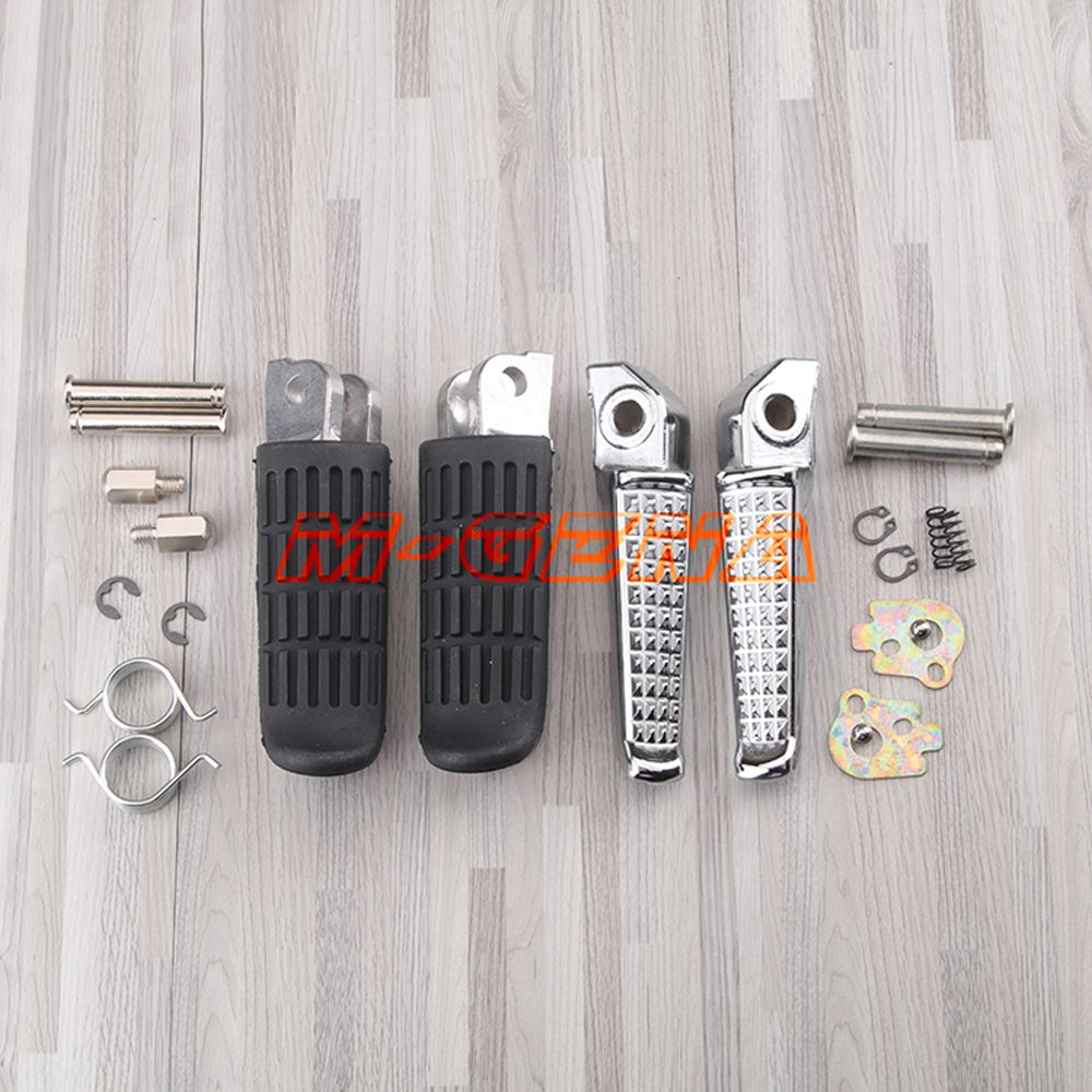 Motorcycle Front Rear Footrests Foot Pegs For Honda CB400 SuperFour CB-1 CB500 CBR1100XX Blackbird VTR1000 NT400 650 700 NTV600