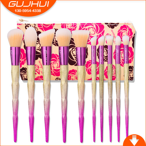10 Make-up, Make-up, Make-up Tools, Make-up Tools, Beauty and Makeup Suits, Fan-shaped Brush Foundation GUJHUI тушь make up factory make up factory ma120lwhdr04