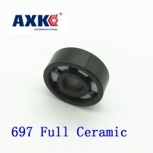 Axk 697 Full Ceramic Bearing ( 1 Pc ) 7*17*5 Mm Si3n4 Material 697ce All Silicon Nitride Ceramic 619/7 Ball Bearings axk 6208 full ceramic bearing 1 pc 40 80 18 mm zro2 material 6208ce all zirconia ceramic ball bearings