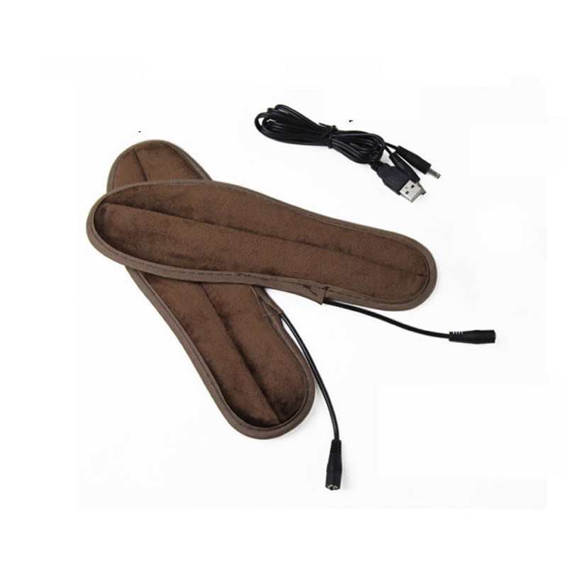 MSTMF THINKTHENDO New Hot USB Electric Powered Heated Insoles For Shoes Boots Keep Feet  ...