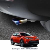 Car Exhaust Muffler Tip Stainless Steel Pipe Trim Modified Car Rear Tail Throat Liner For Toyota Corolla E170 RAV4 XA40 2013 201
