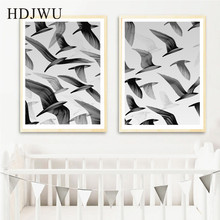 Art Home Canvas Wall Painting Creative Bird Aminal Printing Posters Pictures for Living Room DJ289
