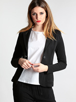 Jacket blazer black cotton