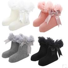 2019 new boneless hand sewing bowknot ribbon lace socks female children lovely socks fleabane ballet stage priness girl socks