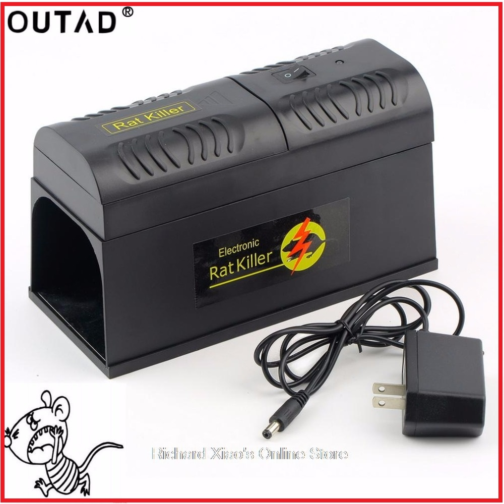 OUTDA Electric High Voltage Mouse Rat Trap Mouse Killer Electronic Rodent Mouse Zapper Electrocute Mana Kiore Home Use ...