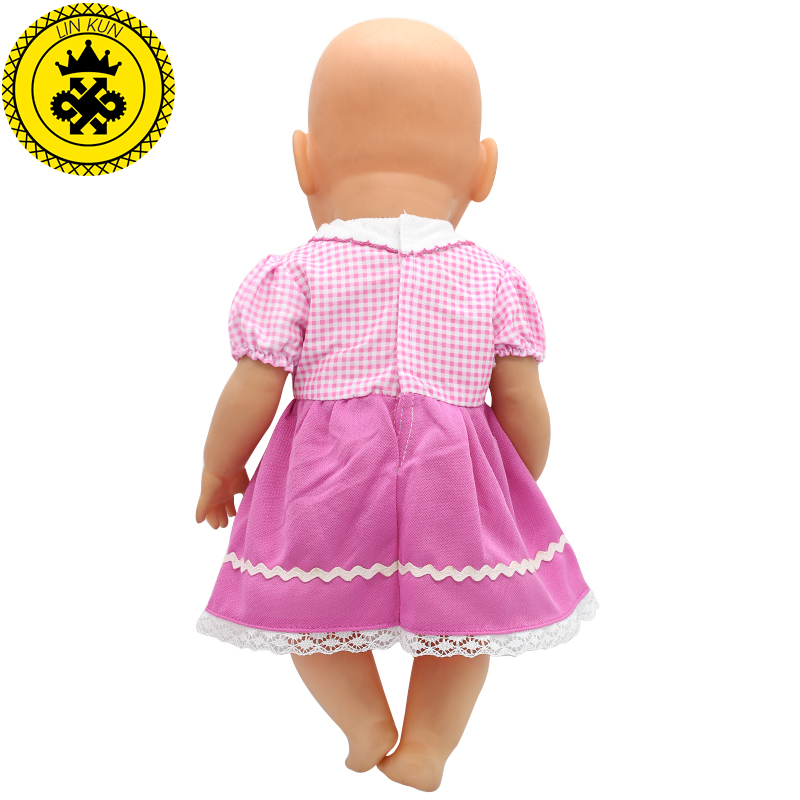 Fit-43cm-Zapf-Baby-Born-Doll-Clothes-Pink-Handmade-Suspender-Skirt-Clothes-Dress-Christmas-Gift-Doll-Accessories-Fashion-212-1