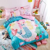 Motobike Balloons Pattern Pink Blue Bedding Sets 100 Cotton Linens Twin Queen Size 3 4pcs Duvet