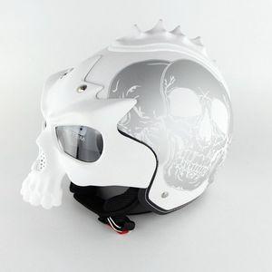 Image 5 - DOT Skull Motorcycle helmet Retro half face Chopper helmets Motorbike Capacete Moto Cascos Racing Armet Masei