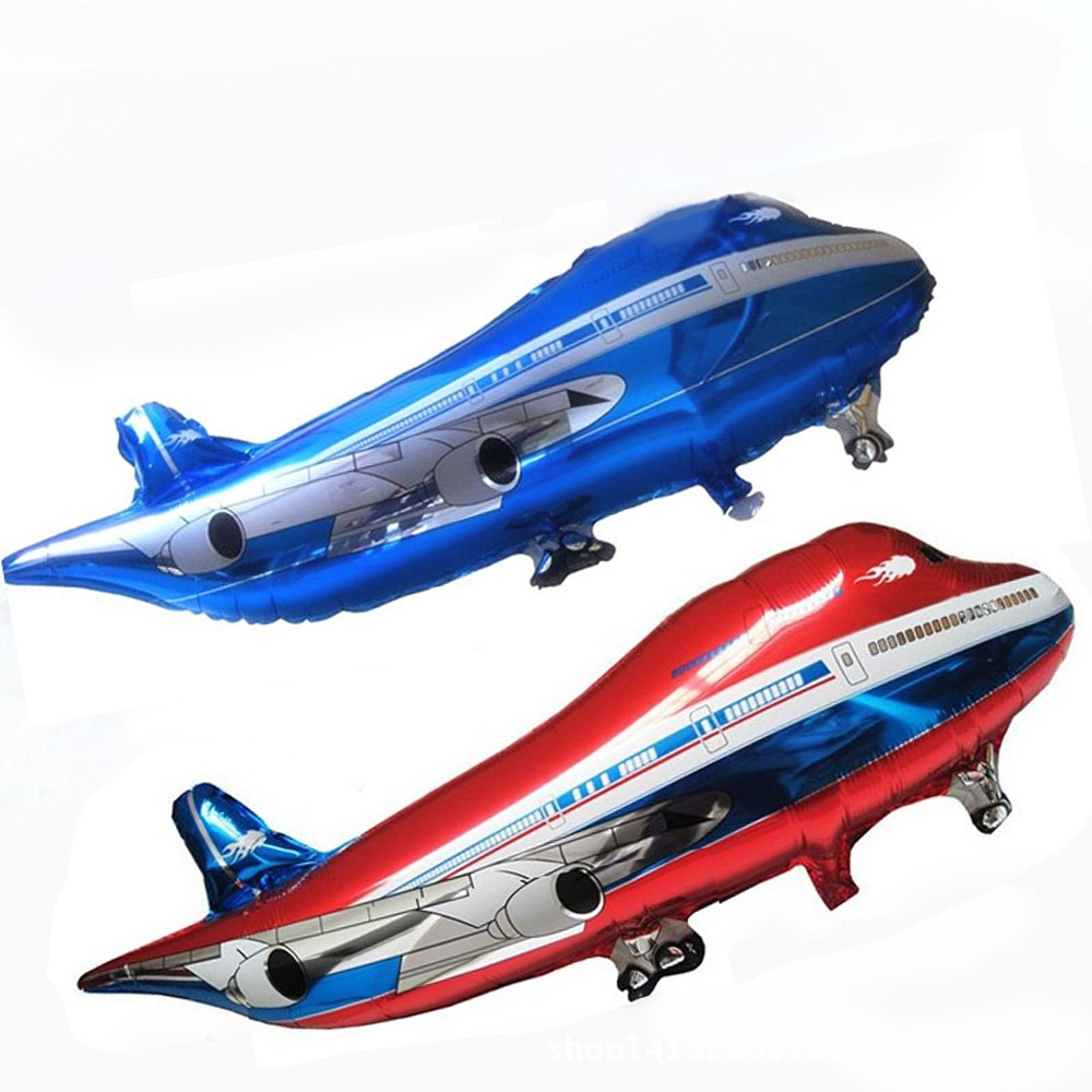 New Arrival 2pcs Oversized Airplane Airbus Modeling Aluminum Foil Balloons Birthday Toy Decoration Balloon Inflatable Toy