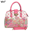 ZIWI Brand Top Quality Dots Bag Ladies Flower Fashion Pu Leather Handbag For Women  VK1755
