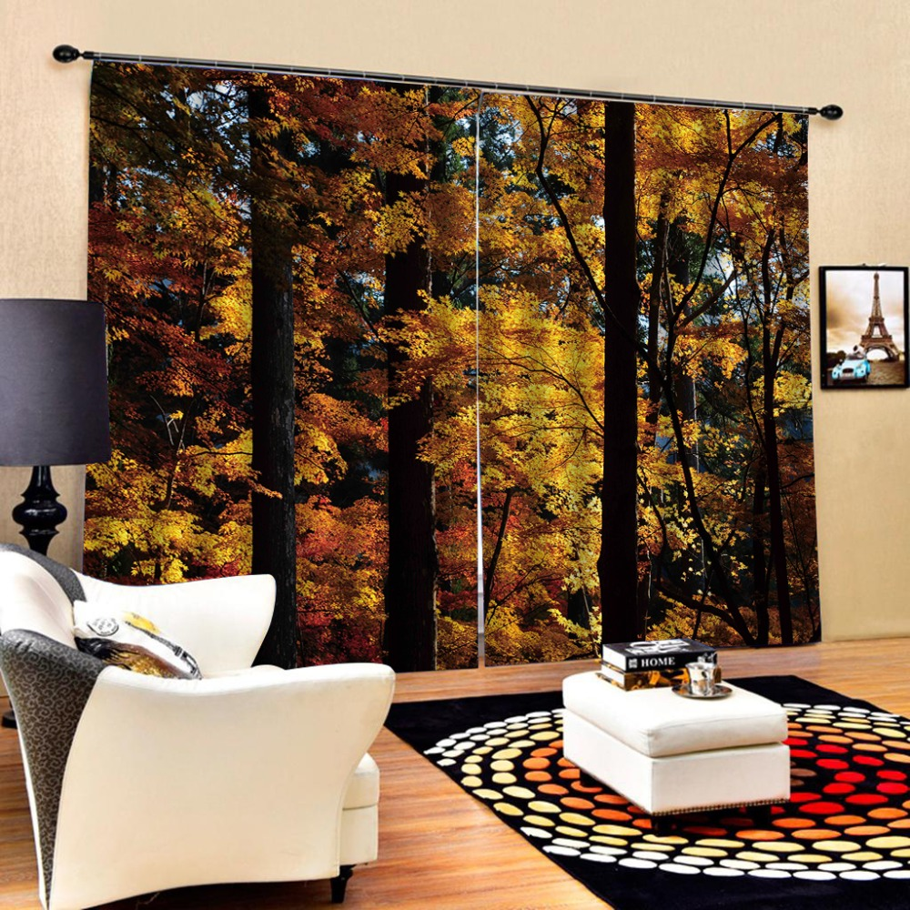 tree curtain Blackout curtain Luxury Blackout 3D Window Curtains For Living Room Bedroom Customized size forest curtains