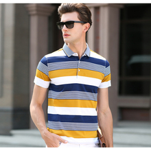 High Quality Men's Clothing Fashion Polo Shirt Contrasted Color Short Sleeve Cotton Polo for Summer Brand Polo New g07