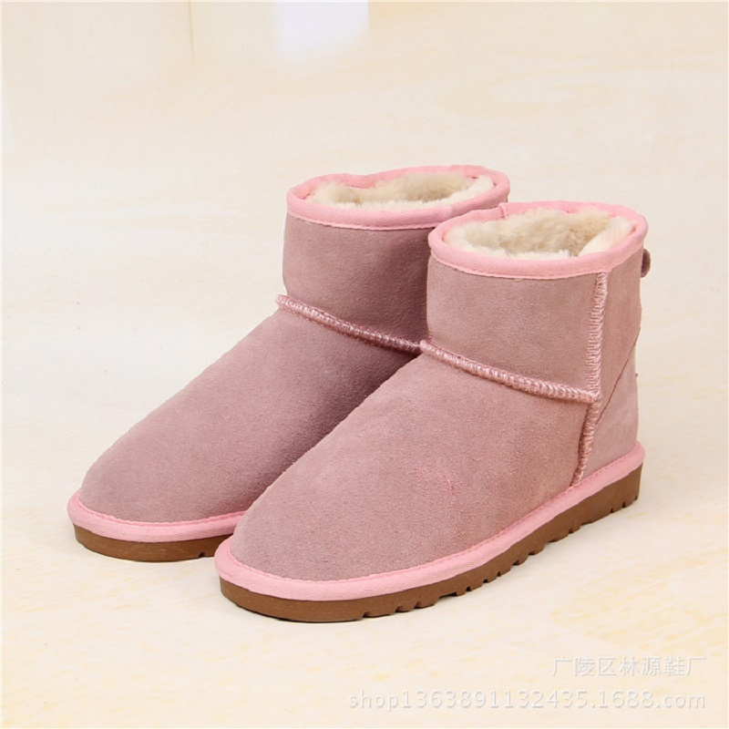 Top Quality 2018 Girls Boys Boots Winter Shoes Genuine Leather Snow Boots Kids Shoes Platform Warm Boots for Toddler Women platform bowkont flocking snow boots