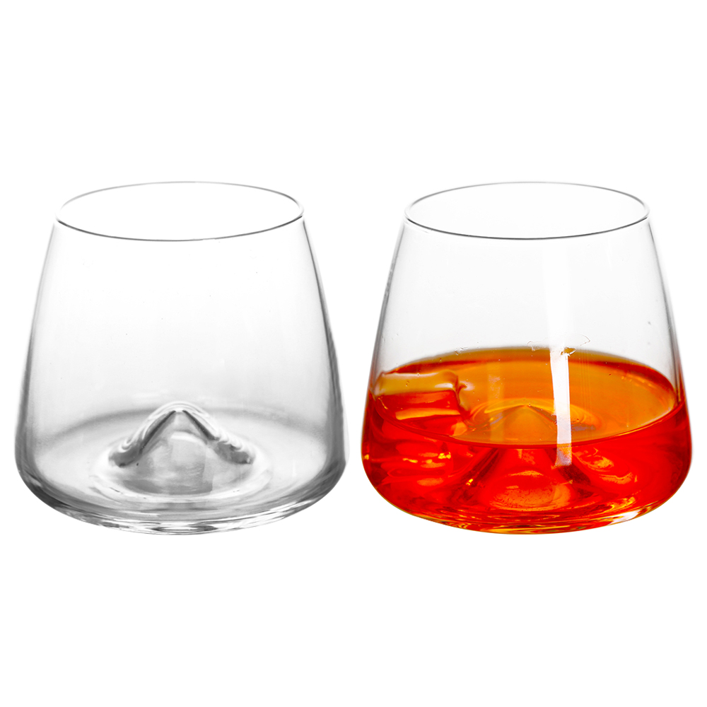 1Pcs Whiskey Glasses 360Ml Creative Household Transparent Glass Wine Juice Cup For Drinking