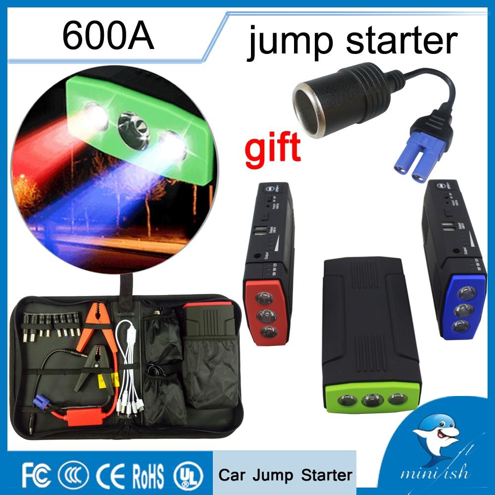 Promotion multi-fonction Portable 600A chargeur de batterie de secours démarreur de saut de voiture 68000 mAh Booster batterie externe dispositif de démarrage