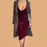 193f5ccc6dfa8 Red Gown Velvet Dress Women Velour Strap Back Sukienka Long Slip Dress  Suspender Robe Femme 2019