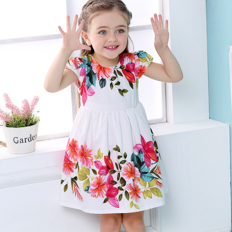 Baby Girls Clothing New Summer Fashion Floral Bow lovely Dress Ladies Dress Casual Loose sweet Dress Green and Red Dress цена 2017