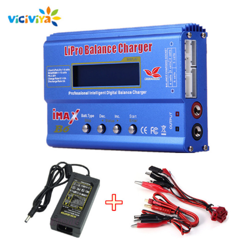 Imax B6 80W EU/US Plug Power Adapter Battery Balance Charger Discharger For Lipo NiMh Li-ion Battery For RC Helicopter Drone ^