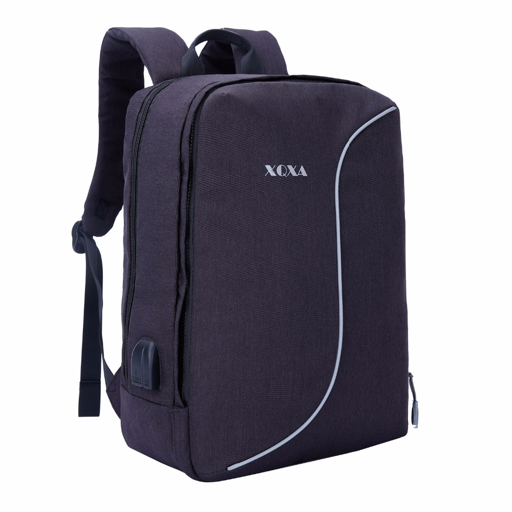 XQXA 17 Inch Laptop Backpack Women Men Student Colloage Univserstity School Bag For Business Travel Trip Color Black and Gray dy0606 ladies bag 15inch women backpack suit for 14 15 notebook laptop bag student school bag travel mountaineering bag