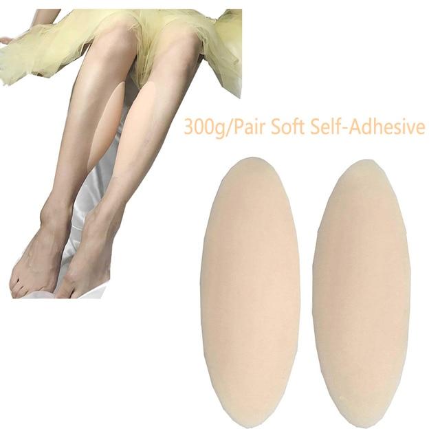 Ajusen 300 גרם\זוג רגל מתקן סיליקון רגל Onlays רך דביק רפידות עקום דק רגליים גוף יופי