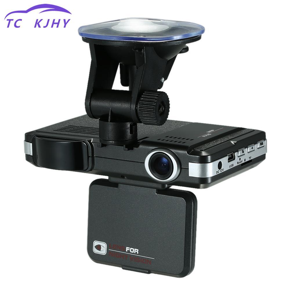 Night Vision Dash Cam Car Dvrs 2 In 1 Car Camera Radar Detector 720p Hd Radar Car Detector Rearview Mirror Camera Car-styling