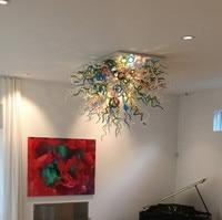 Colorful Creativo HA CONDOTTO Le Luci del Soffitto In Vetro di Murano Stile Veneziano Lampade A Soffitto di Cristallo per Soggiorno Sala Decorazione di Arte-in Plafoniere da Luci e illuminazione su