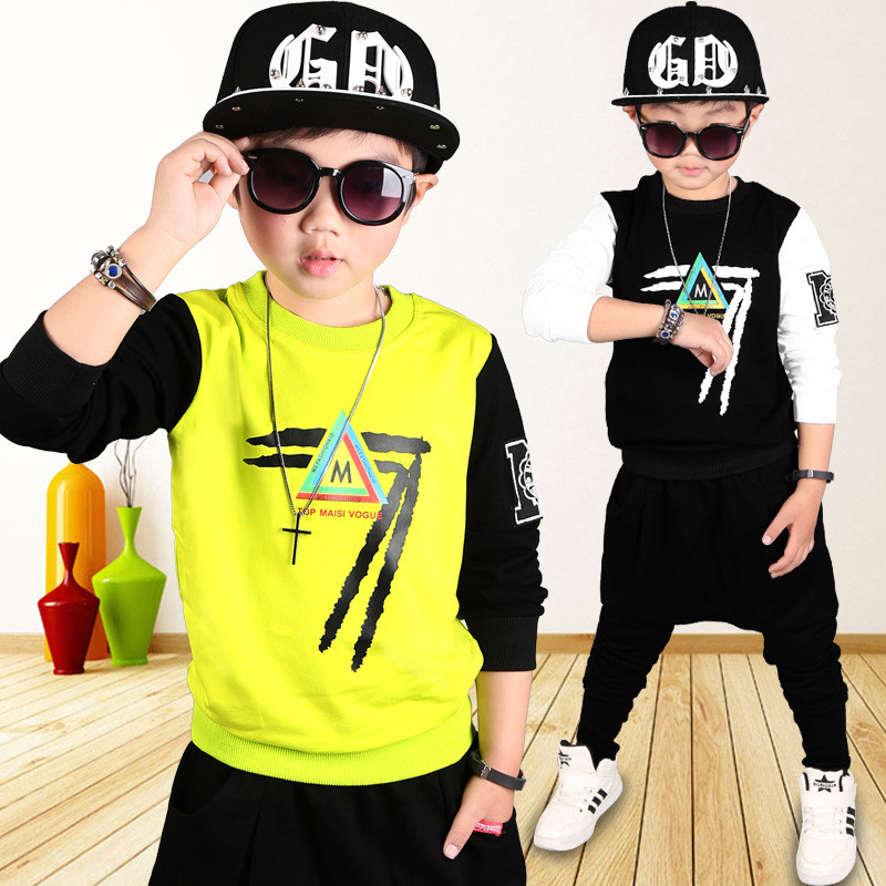 ФОТО 2017 Spring Summer Boys clothing set cotton 2 pcs boy costume long sleeve boy sport suit kids clothes tracksuit harem pants 0-8T