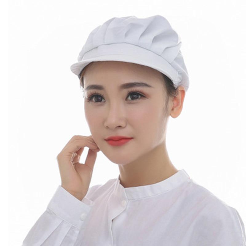 1pcs Men Women Cook Kitchen Chef Elastic Cap Dustproof Uniform Waiter Workshop Resturant Bakery Catering Hat Full Cloth YLM9867