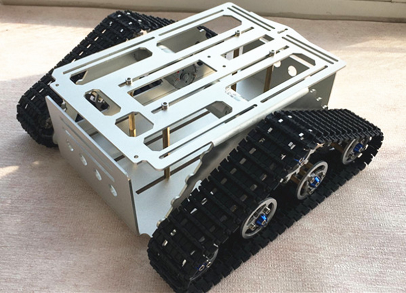 цена на JMT DIY RC Intelligent Robot Aluminum Smart Tank Chassis Wall-e Caterpillar Tractor Crawler Parts