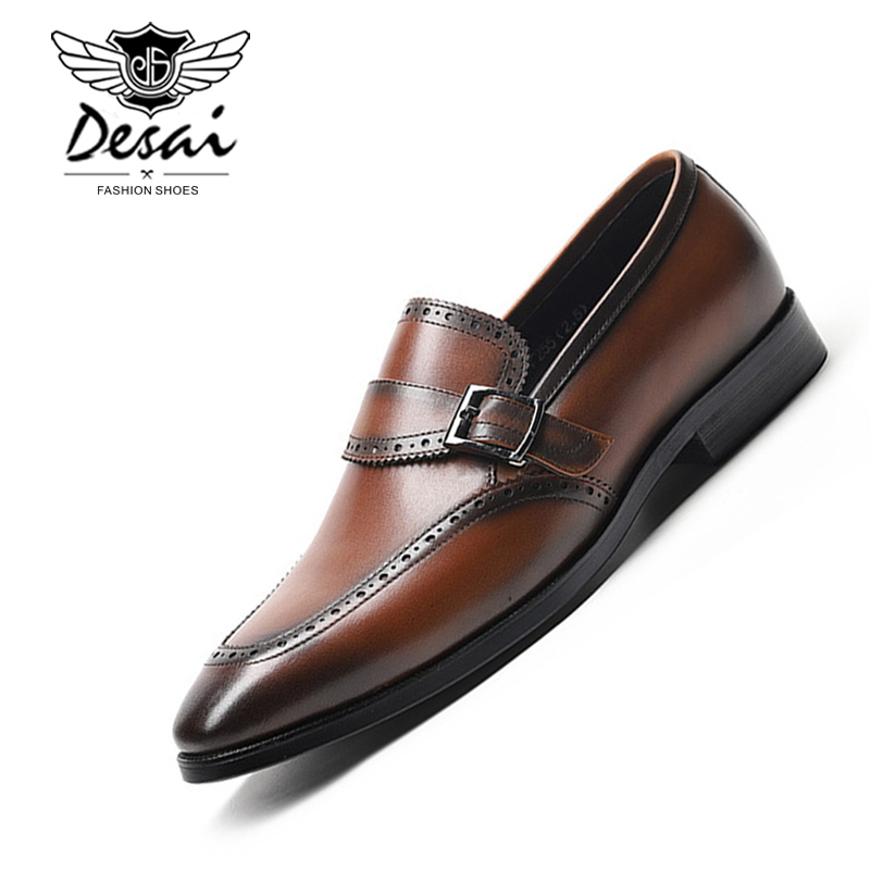 2018 New Men's Genuine Leather Shoes Man Flat Classic Shoe Italian Formal Oxfords Handmade Business Dress Shoes Size 37-44 new kids genuine leather shoes 2018 children dress shoes boy formal shoes flat classic sneakers size 26 37 red yellow blue black