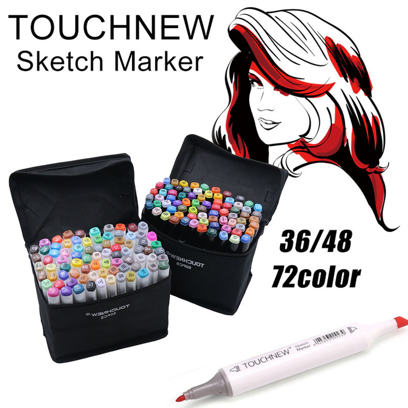 TouchFive Marker 30/40/60/80 Color Alcoholic oily based ink Art Marker Set Best For Manga Dual Headed Art Sketch Markers promotion touchfive 80 color art marker set fatty alcoholic dual headed artist sketch markers pen student standard