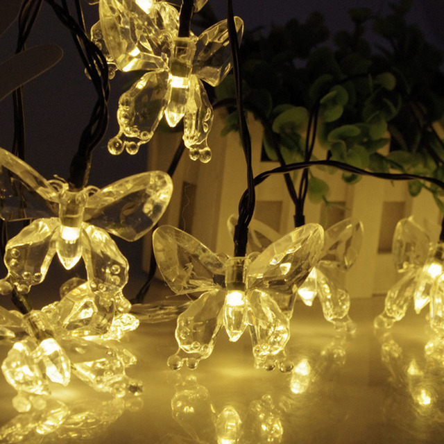 Led christmas lights butterfly solar led lamp 2030 led outdoor led christmas lights butterfly solar led lamp 2030 led outdoor backyard fence decoration and mozeypictures Gallery