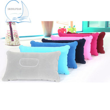 Air Inflatable Pillow Outdoor Portable Folding Double Sided Flocking Cushion for Travel Plane Hotel Hot Worldwide 1PC