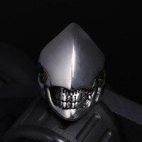 A forma di anello di titanio all'ingrosso degli uomini Del Cranio Punk personalità Metrosexual dei monili pezzo per conto di