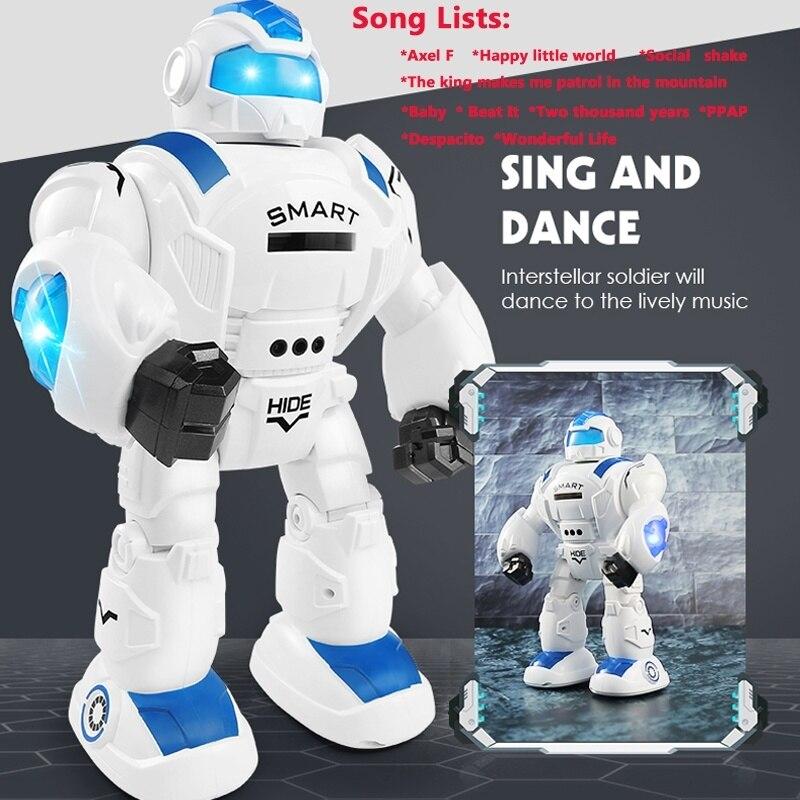 Contrôle Gestes Robot qui danse télécommande RC jouet Robot cadeau de noël pour Enfants l Robot astronaute Modèle Jouets