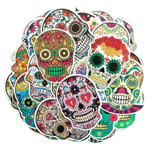 50 Pcs/lot Colorful Horror Skull Stickers For Computer PS4 Pad Phone Laptop TV Fridge Bicycle Pvc Waterproof Decal Sticker