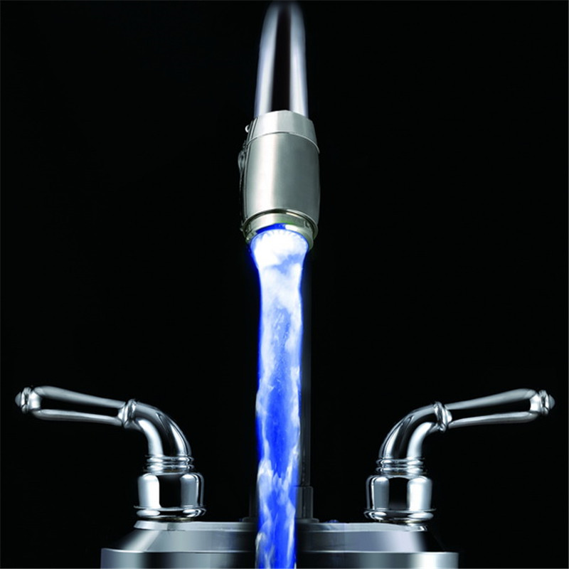 Single Blue led color changing faucet light without package