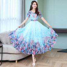 Summer 2019 Korean version of the new fashionable Chiffon Dress slim dress medium-length