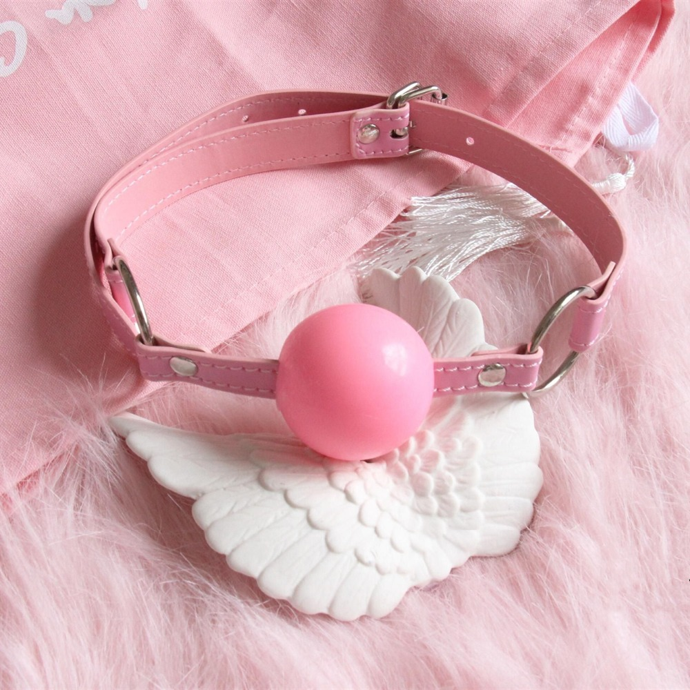 Leather Open Mouth Gag Ball Harness Restraints Erotic Games Oral Fixation Fetish BDSM Bondage Sex Toys For Couples Sex Products