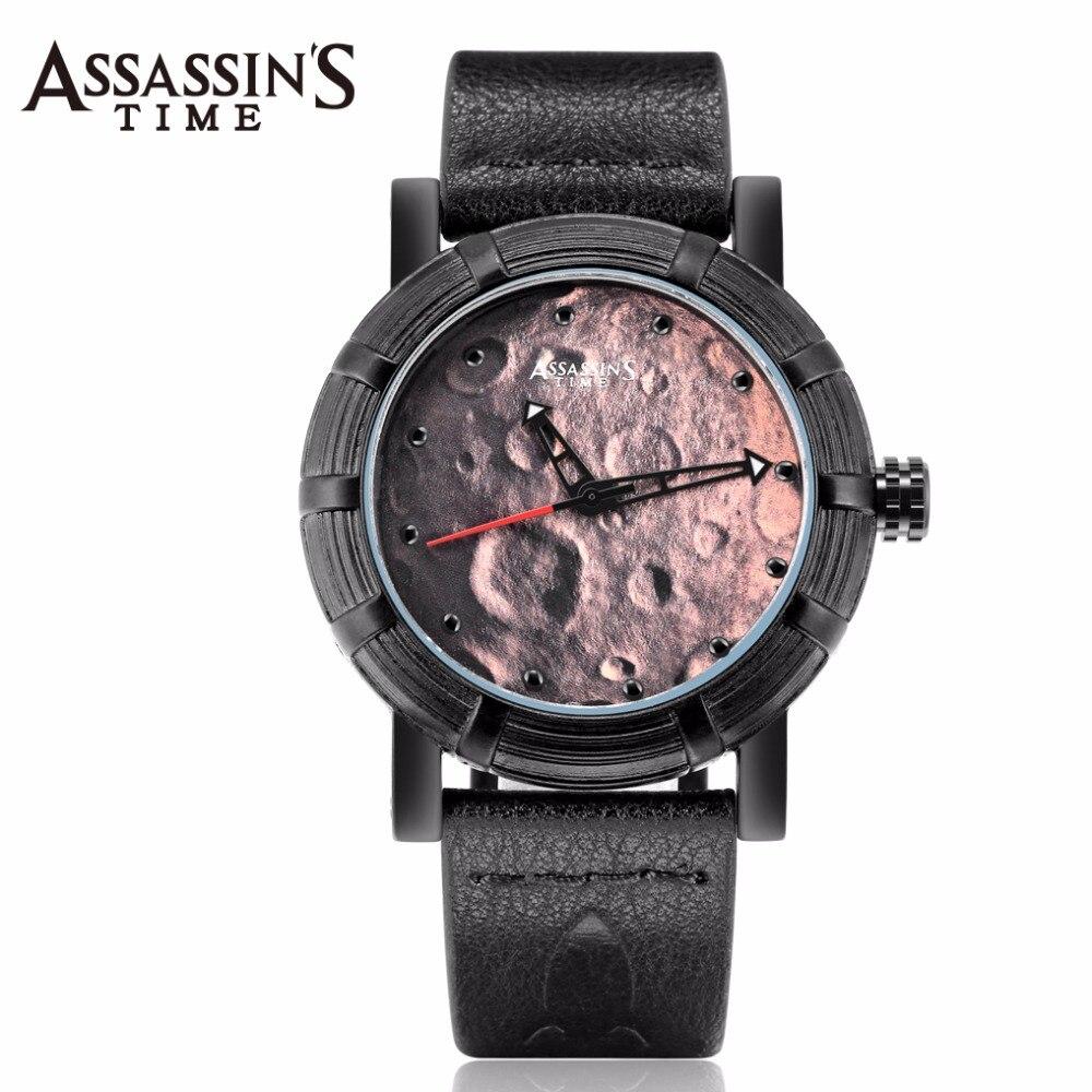 Assassin s Time Men s Watch Japan Quartz Lunar Man Hours Punk Moon Fine Fashion Clock
