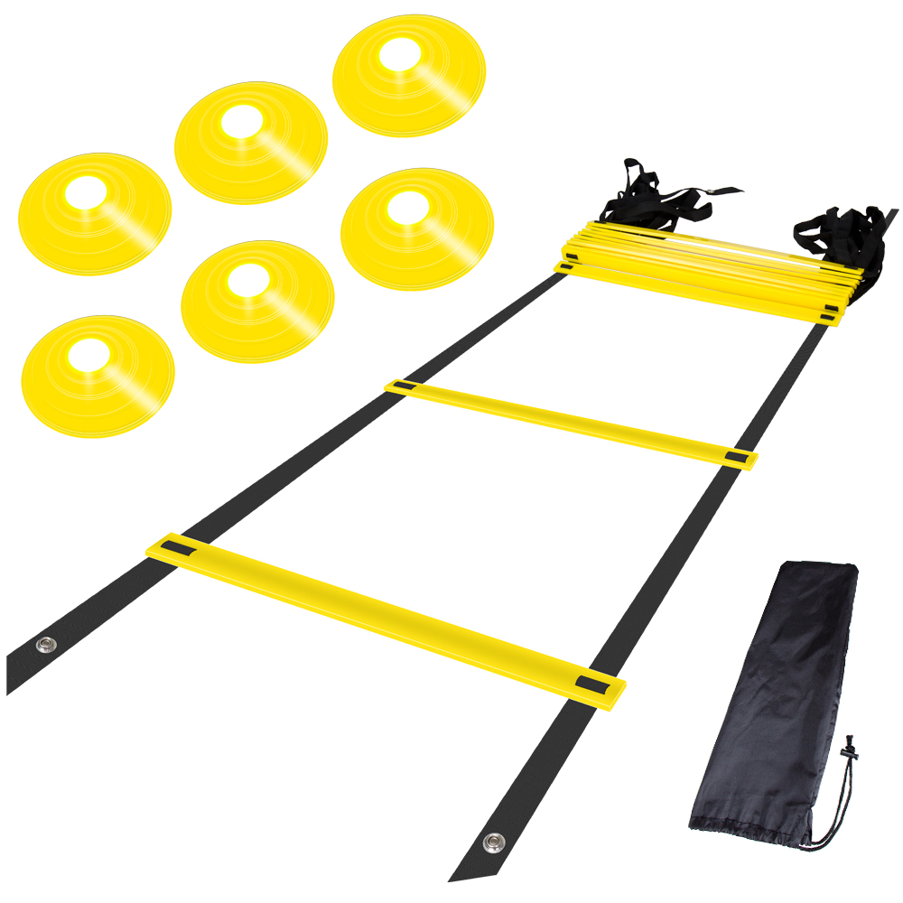 12 Rung Nylon Straps Training Ladders Agility Speed Ladder Stairs For Soccer And Football Speed Ladder Equipment