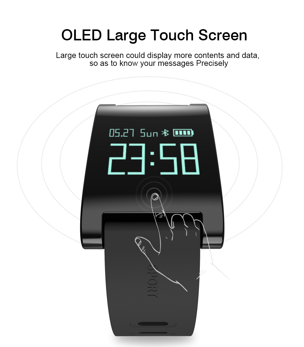 LEMDIOE DM68 waterproof smart band wristband fitness tracker Blood Pressure heart rate monitor Calls Messages watch for phone 3