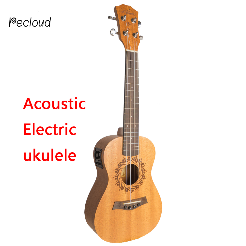 Acoustic Electric Soprano Concert Tenor Ukulele 21 23 26 Inch Mini Guitar Mahogany 4 Strings Ukelele Guitarra Uke Mahogany two way regulating lever acoustic classical electric guitar neck truss rod adjustment core guitar parts